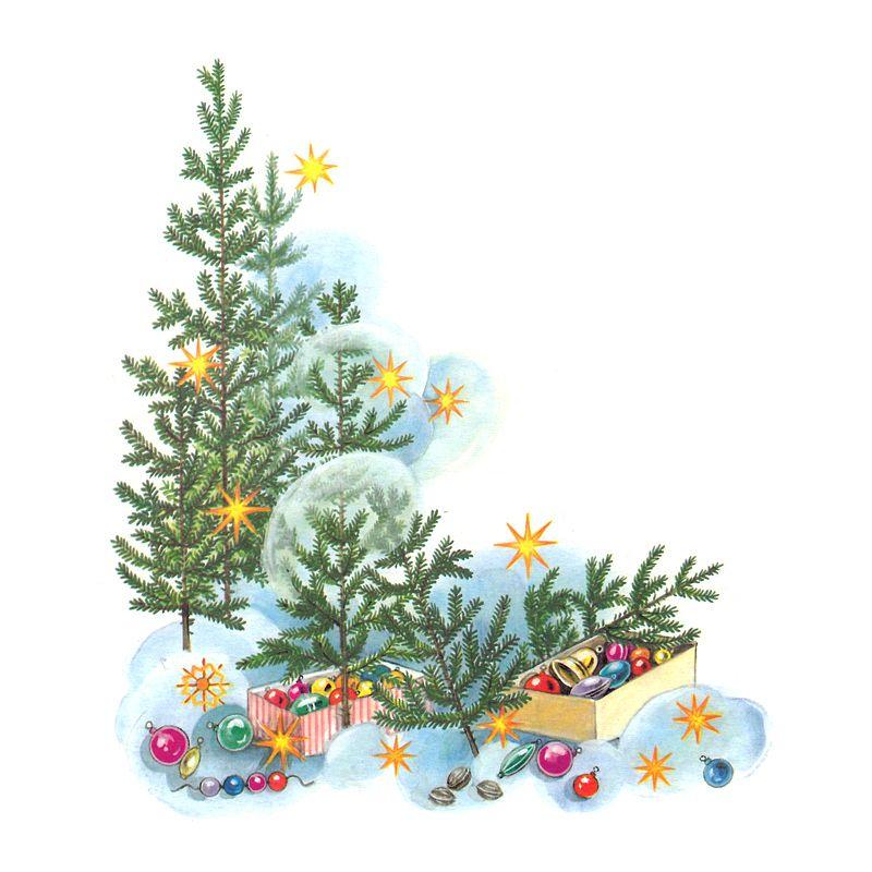 Christmas tree decoration illustration