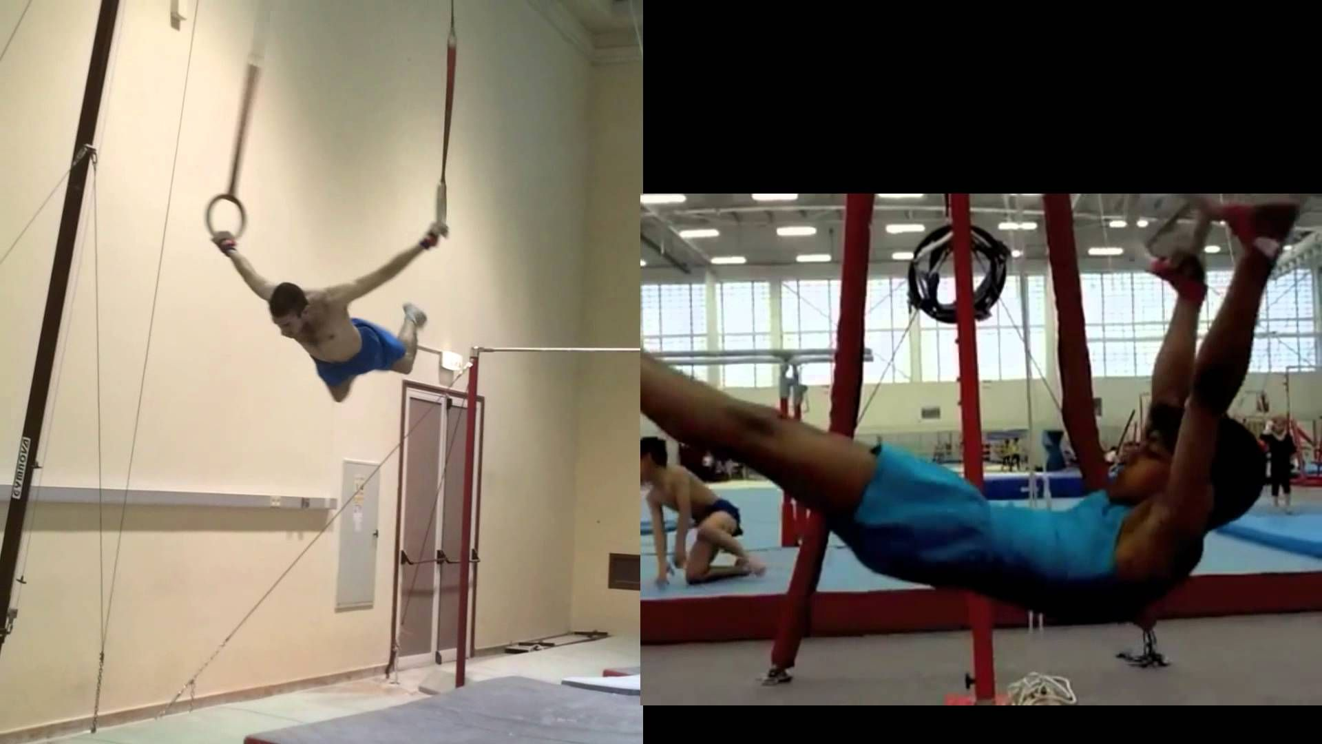 Ring Swings Progression With Comparision Gymnastics Fitness Chair Swing Calisthenics Workout