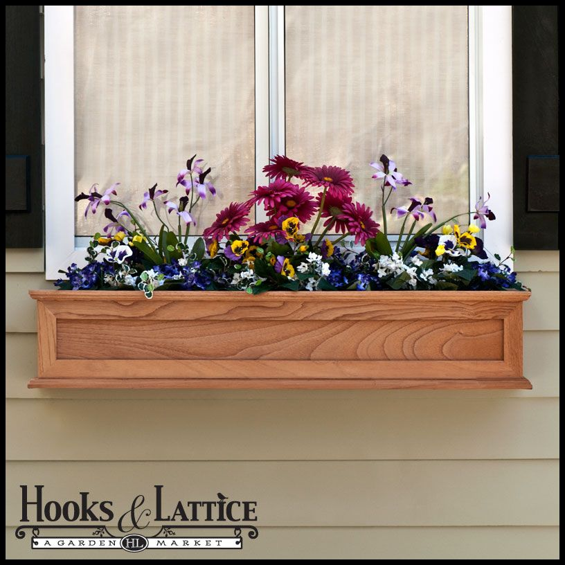 Good Window Boxes | Wooden Flower Box, Wood Window Boxes, Wooden Window Boxes