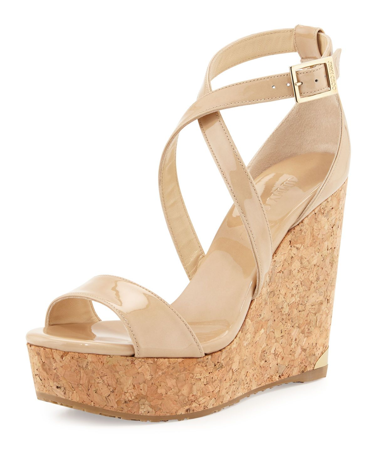 Jimmy Choo Platform Wedge Slide Sandals with mastercard sale online JmzjD