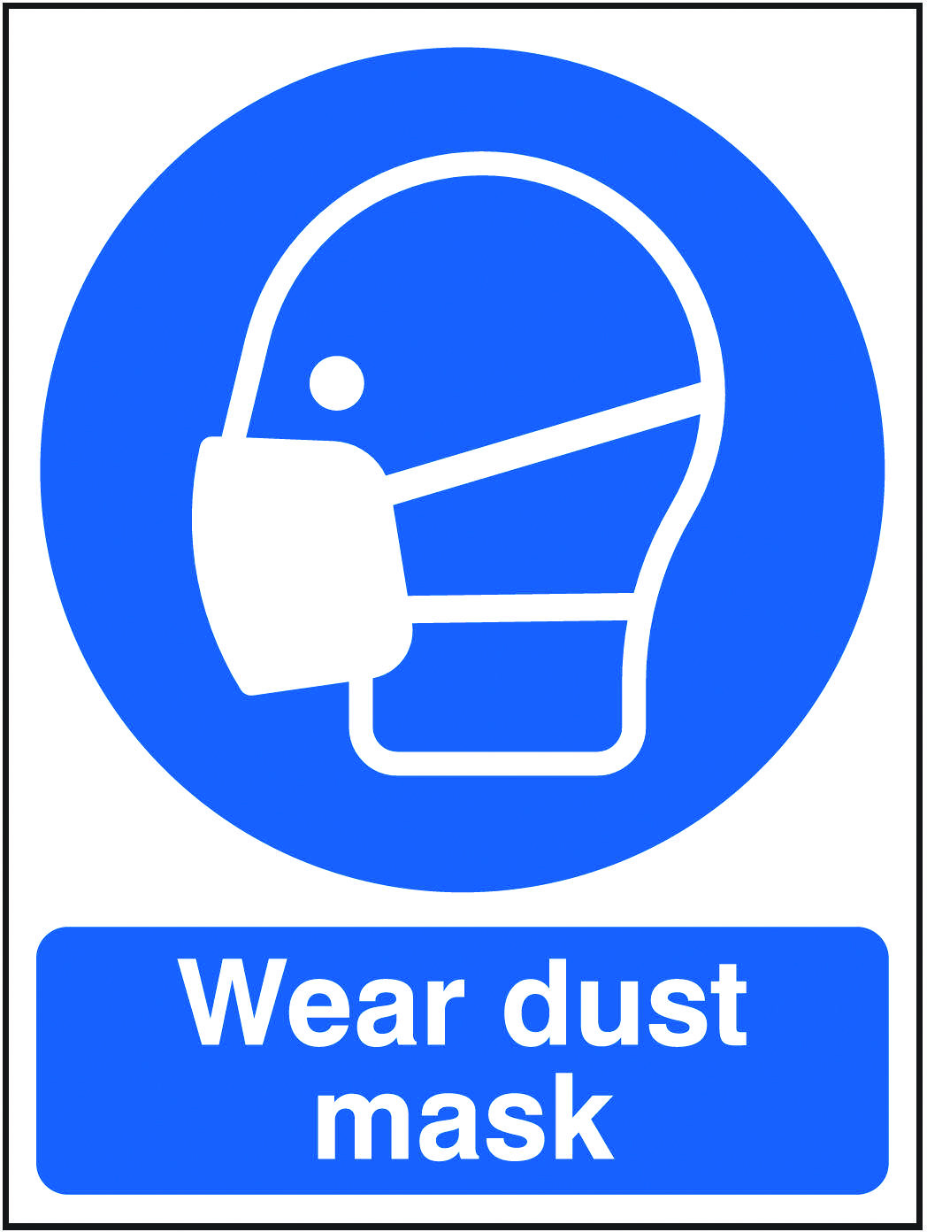 Wear dust mask sign. Beaverswood Identification Solutions