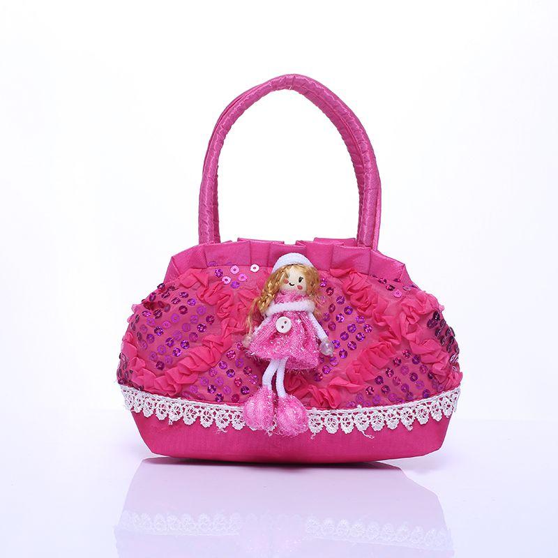 94bfe5bf1f3 Kartun Gadis Kecil Tas Boneka Gadis Ritsleting Tas Anak Mini Sequin Partai Tas  Tas Untuk Bayi Anak Hadiah