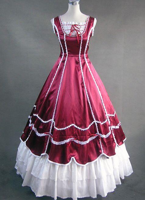 victourian ballgown | ... and White Victorian Ball Gown | Cheap ...