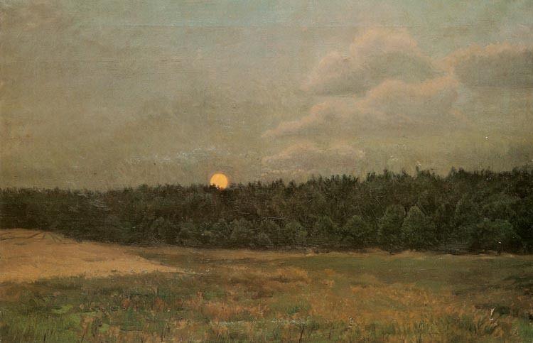 Józef Chełmoński - Moonrise