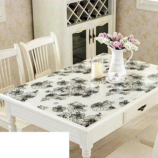 Soft Glass Thicken Pvc Table Cloth Waterproof Burn Proof Plastic Tablecloths Dining Desk Mats Transparent Froste Table Pads Tablecloth Dining Table Cloth