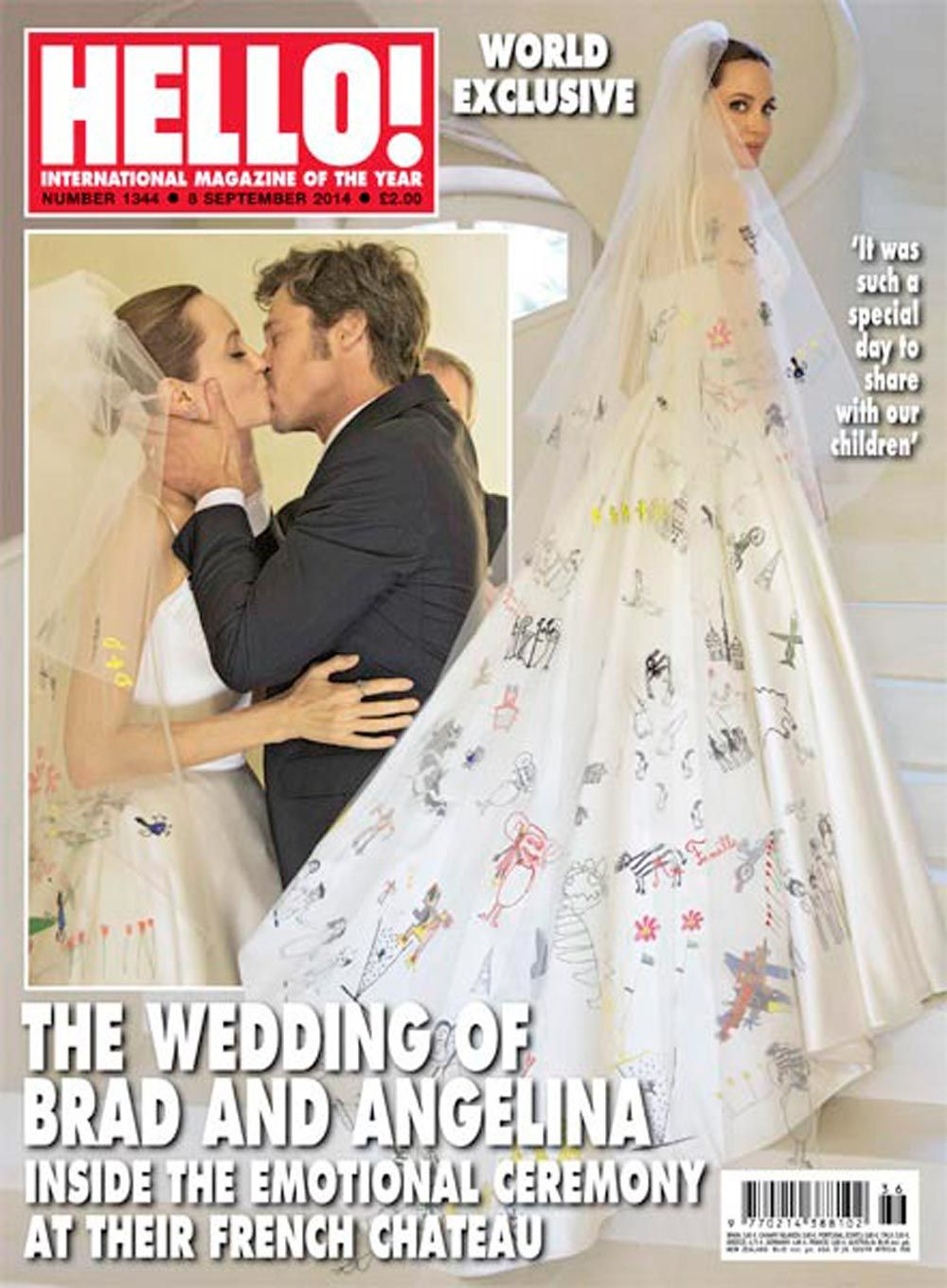 Versace wedding dress  Angelina Jolieus wedding dress revealed  Wedding dress pictures