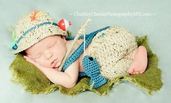 Baby Girls Boy Gold Fish Newborn Knit Crochet Clothes Photo Prop Outfit mode