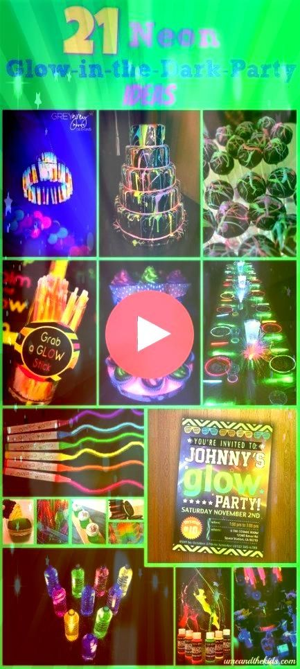 ideas 21st birthday party games glow sticks for 201927 ideas 21st birthday party games glow sticks for 2019 DIY Neon GlowintheDark Chandelier Made from cardboard plastic...