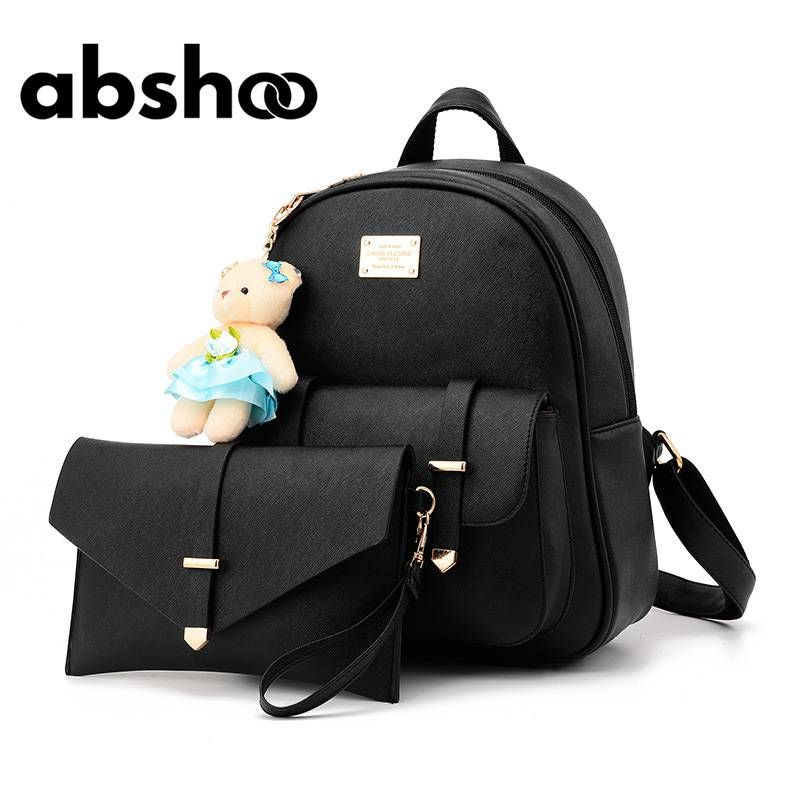 3484de88c5dc Abshoo Women Leather Backpack Candy Color in 2019 | Women's Bags ...