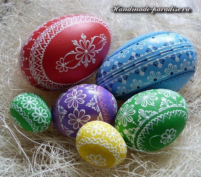 Роспись пасхальных яиц воском (описание процесса, идеи ...