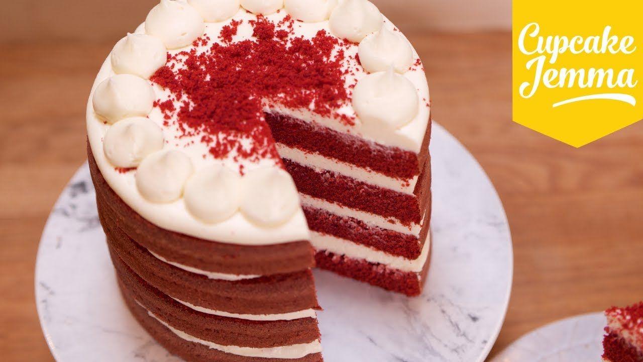 Best Ever Red Velvet Layer Cake Recipe Cupcake Jemma Youtube