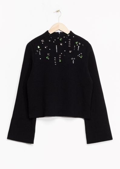 & Other Stories   Embellished Merino Wool Sweater
