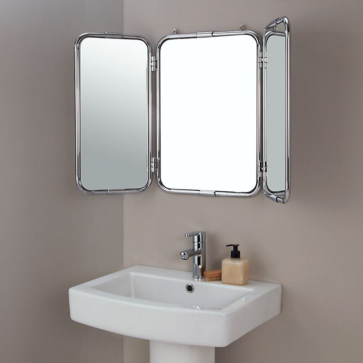 buy john lewis restoration triple bathroom wall mirror online at johnlewis com
