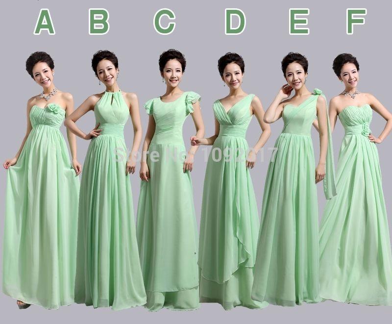 Light Mint Green Bridesmaid Dresses   Dresses Trend   Bridesmaids ...