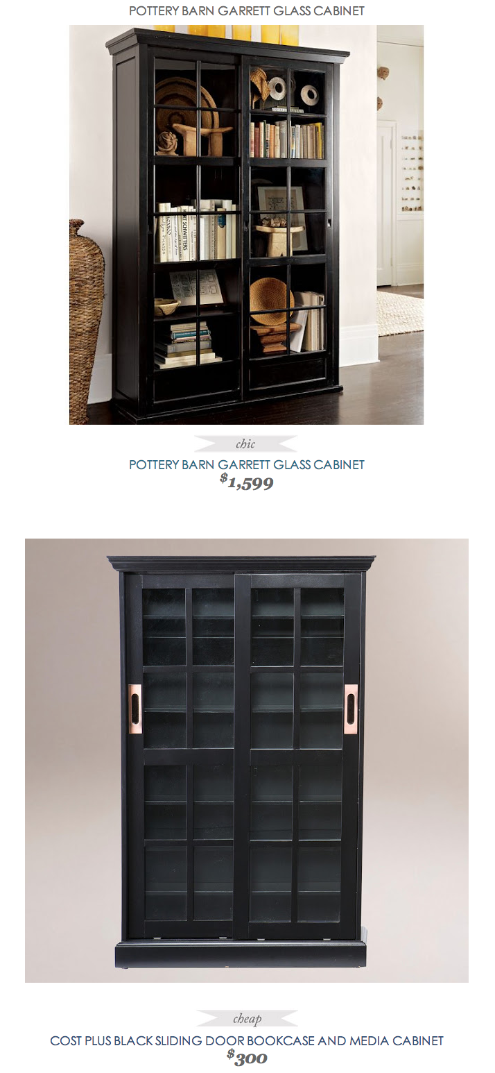 Copy Cat Chic Find Pottery Barn Garrett Gl Cabinet