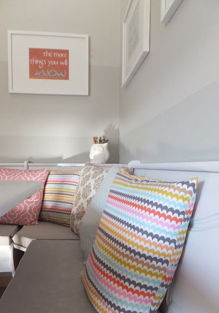 LOVE the gray ombre wall!  Fresh Coat of Paint: A New Nook!