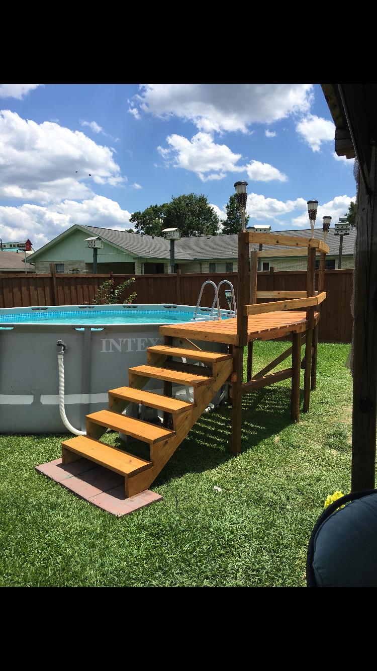pallet deck done by dereck   pools in 2018   pinterest