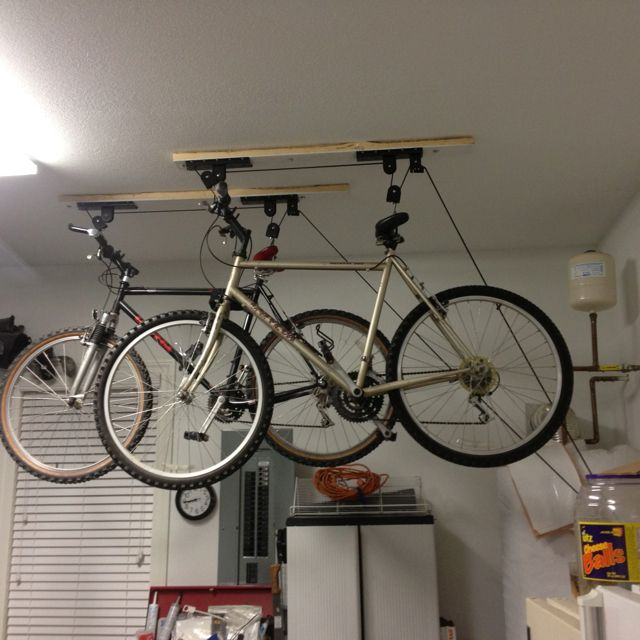 Bluebird Pulley System Both Bikes Are Up Stuff I Love