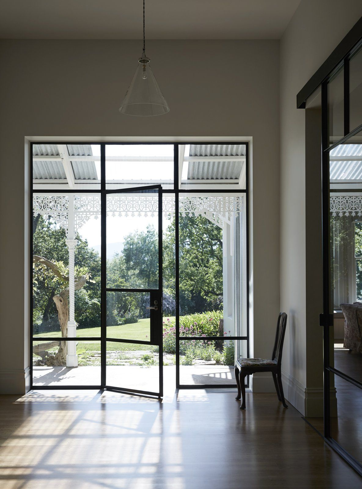 Photo 4 Of 10 In Light Floods This Dazzling Renovated Victorian In Glass Office Doors Sliding Doors Exterior Steel Frame Doors