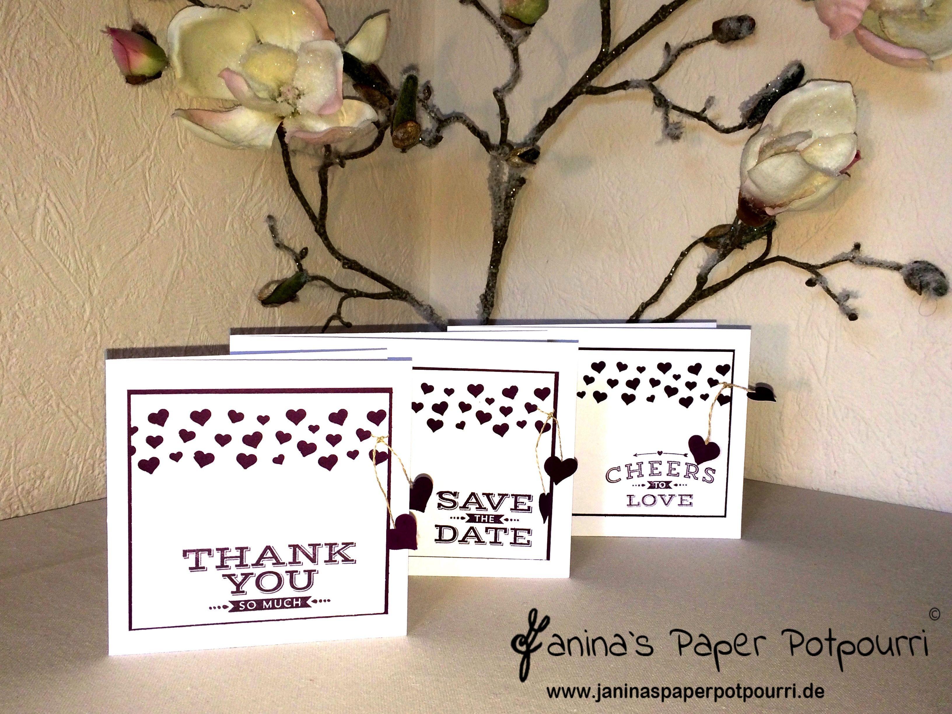 herzkonfetti hochzeit papeterie / wedding stationary / save the, Einladung