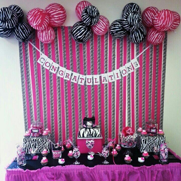 Super Pink N Zebra Stripe Candy Buffet Budget Bash Zebra Baby Interior Design Ideas Clesiryabchikinfo