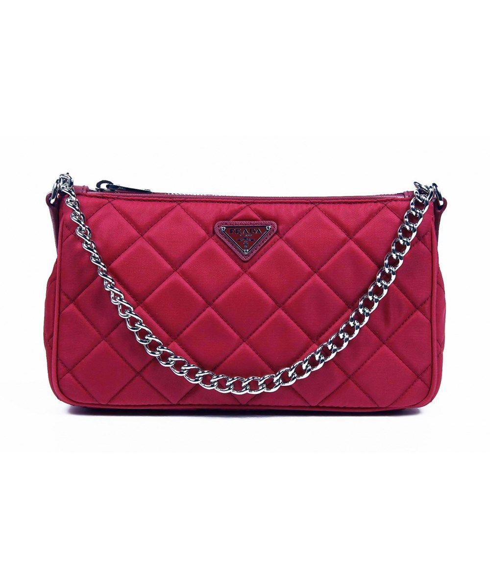 fabb1c79f438 PRADA . #prada #bags #shoulder bags #clutch #nylon #leather #hand ...