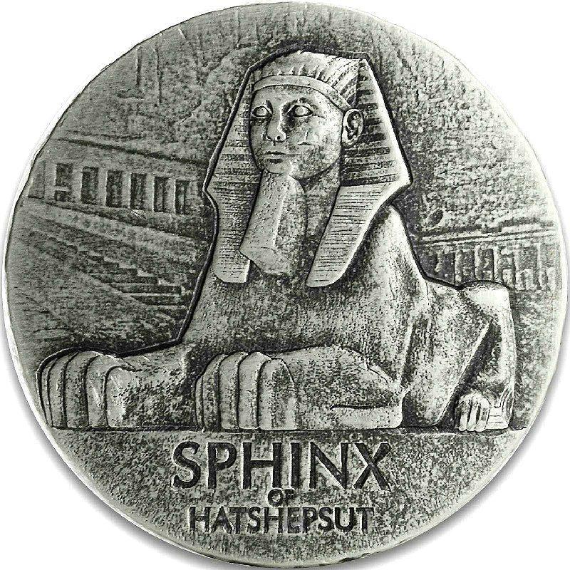 KARNAK Egyptian Temple Jasper 1 Kg Kilo Silver Coin 10000 Francs Chad 2018 Power Coin