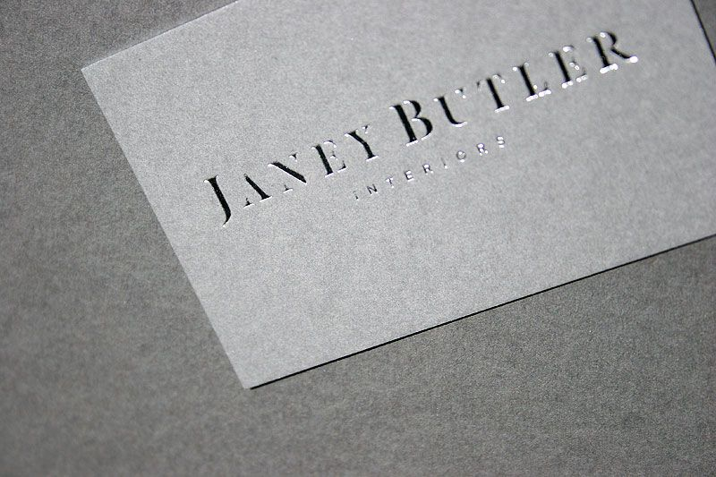 Hot Foil Business Cards With Silver Edge Colour Foil Business Cards Letterpress Business Cards Bus Card