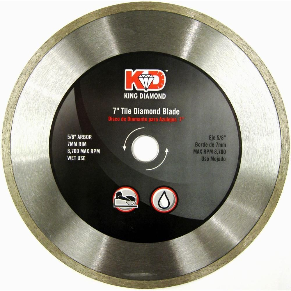 King Diamond 7 In Tile Saw Blade