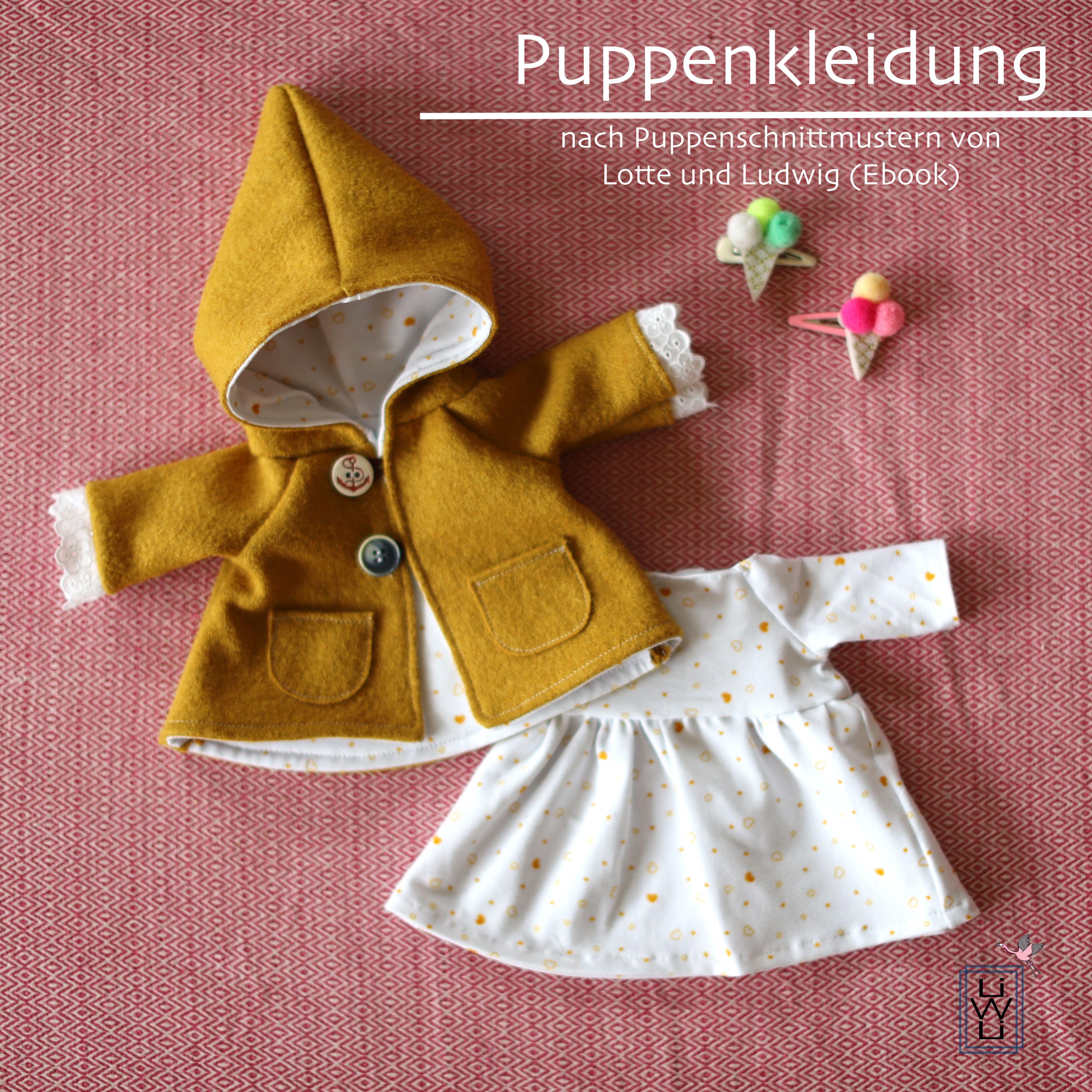 Puppenjacke und -kleid nähen (Ebook von Lotte und Ludwig) - Lila wie Liebe