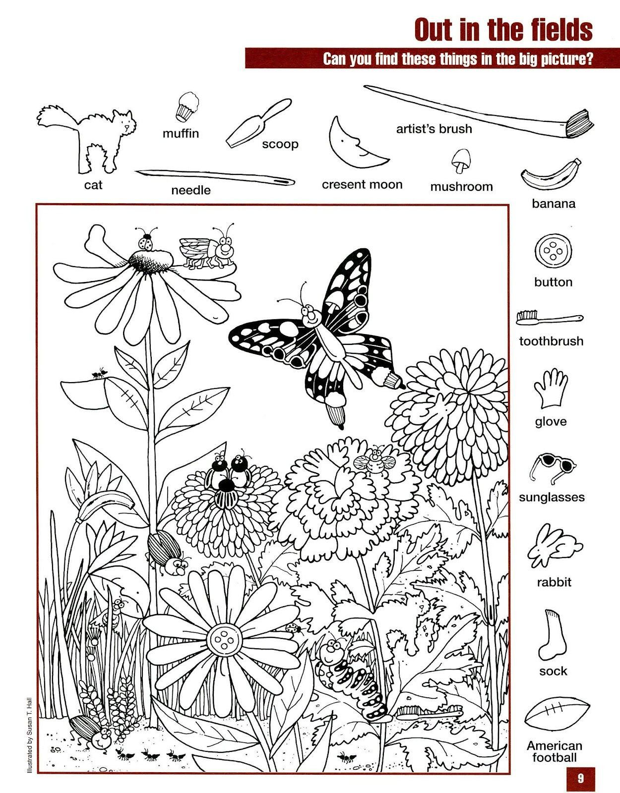 3 Hidden Pictures Worksheet Field 139 Best Seek The Hidden