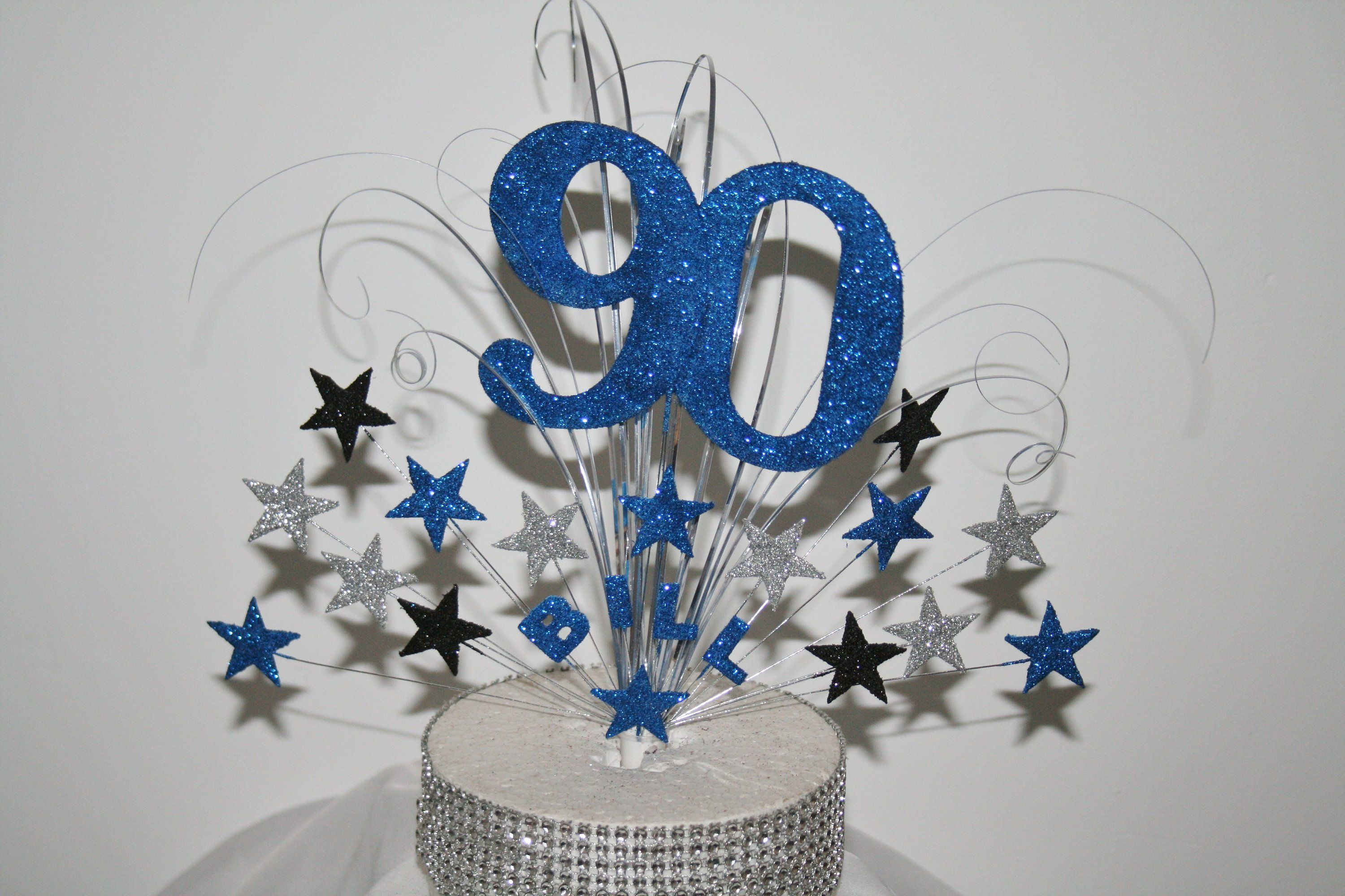 21st 30th 40th 50th 60th 70th birthday cake stars on wires