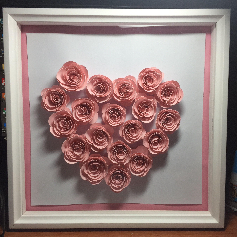 Rolled Paper Flower Shadow Box Crafts Pinterest Flower Shadow
