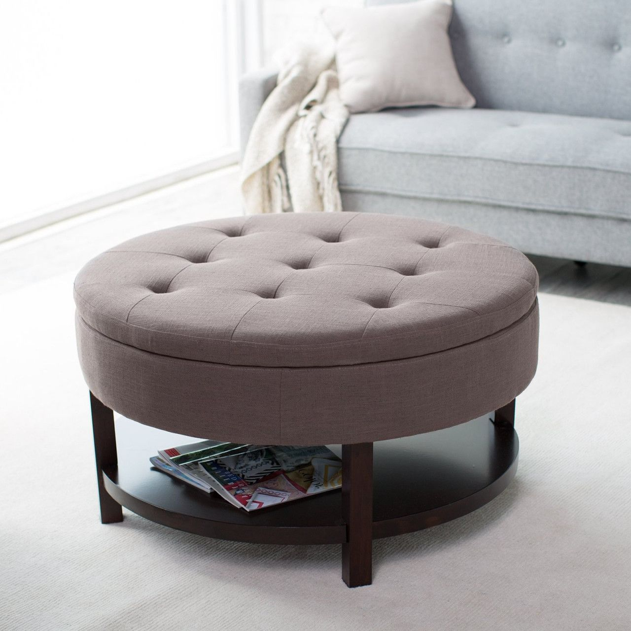 Magnificent 70 Lovely Round Ottoman Coffee Table Upholstered 2020 Desk Andrewgaddart Wooden Chair Designs For Living Room Andrewgaddartcom