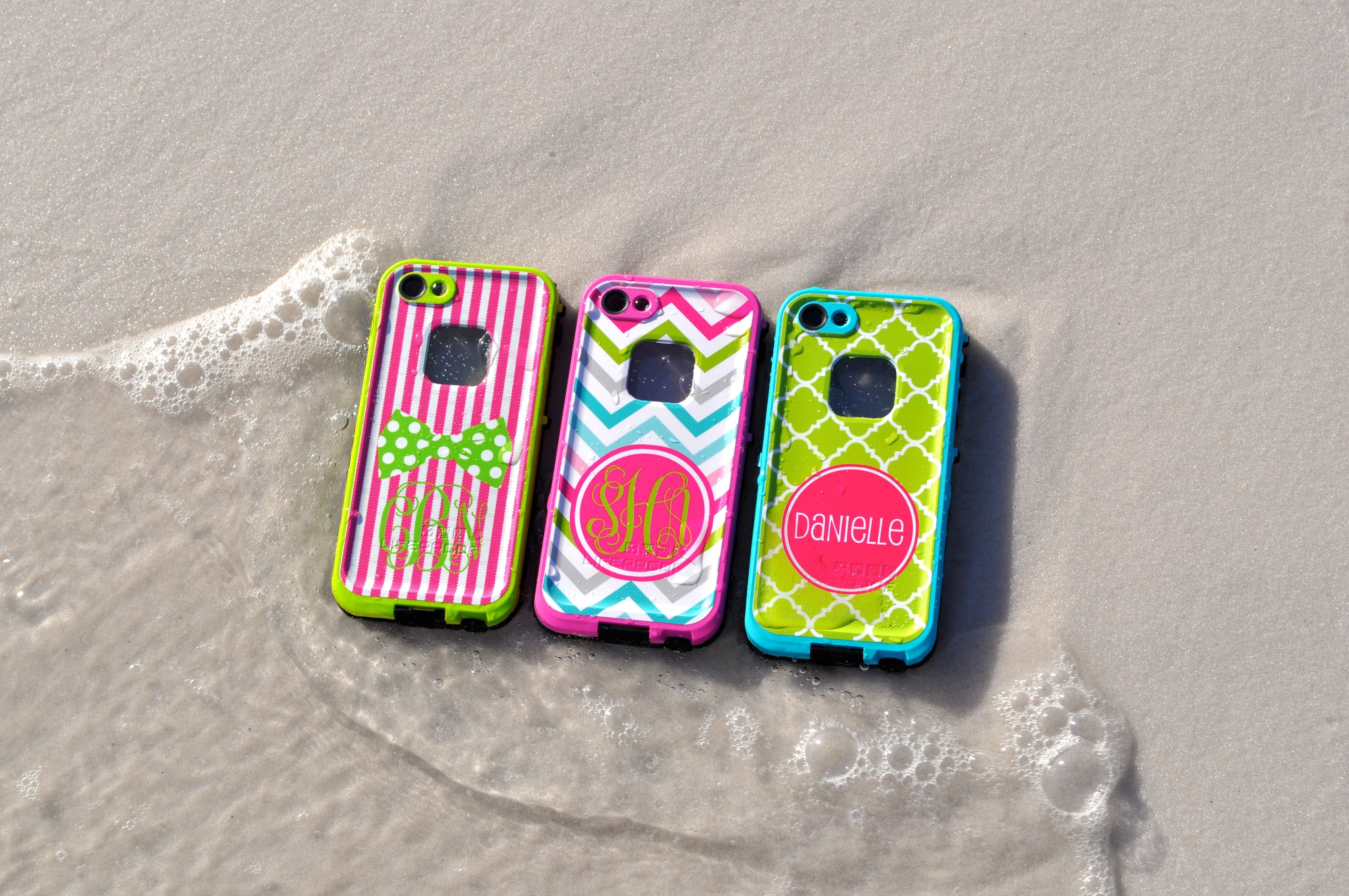 Monogrammed lifeproof iphone 5s cases exclusively at boutiqueme com
