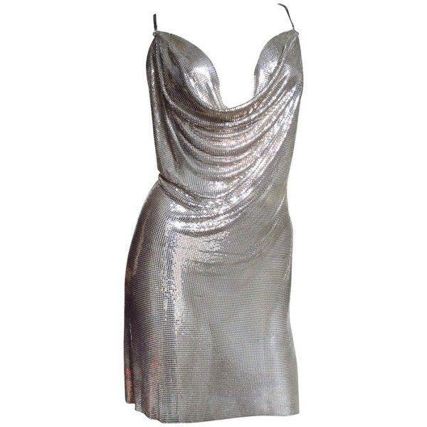 Iconic Vintage Paco Rabanne Metal Mesh Draped Dress ❤ liked on ...