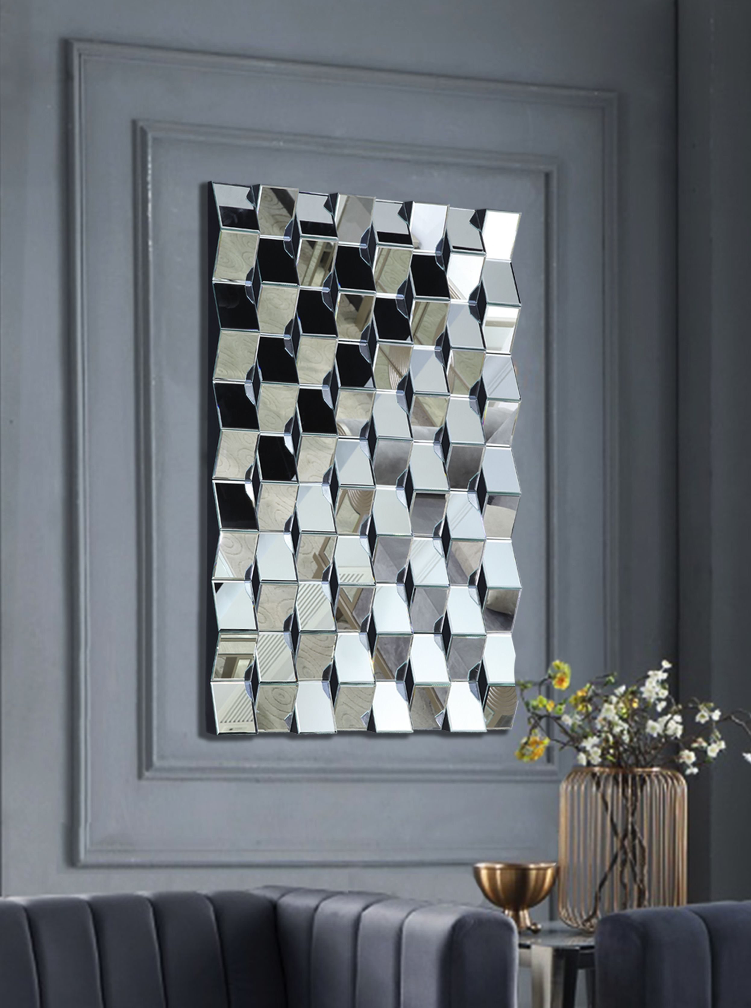 Ziggy Mirror 418 Meridian Furniture Mirrors In 2021 Mirror Design Wall Mirror Wall Art Contemporary Wall Mirrors