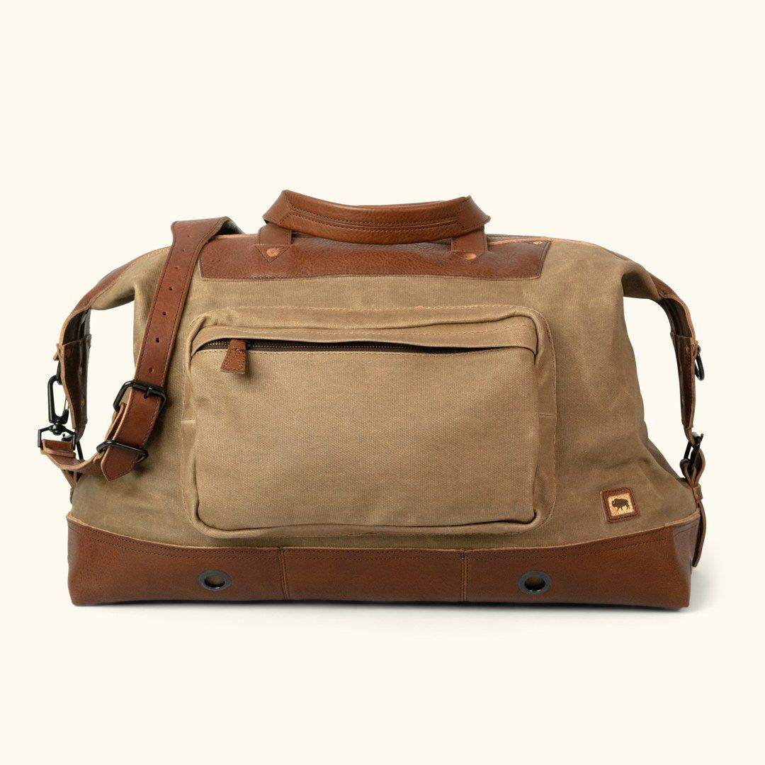 88a4a5093e21 Dakota Waxed Canvas Oversized Weekend Bag