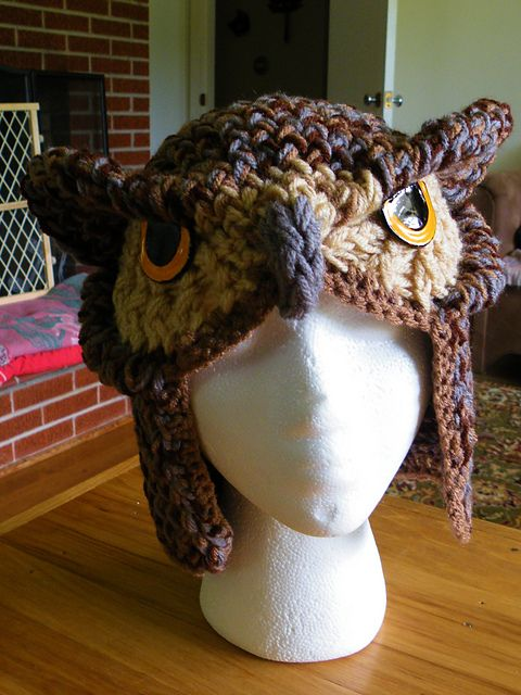 Realistic Owl Hat pattern by Scarlett Royal | owl hat | Pinterest ...
