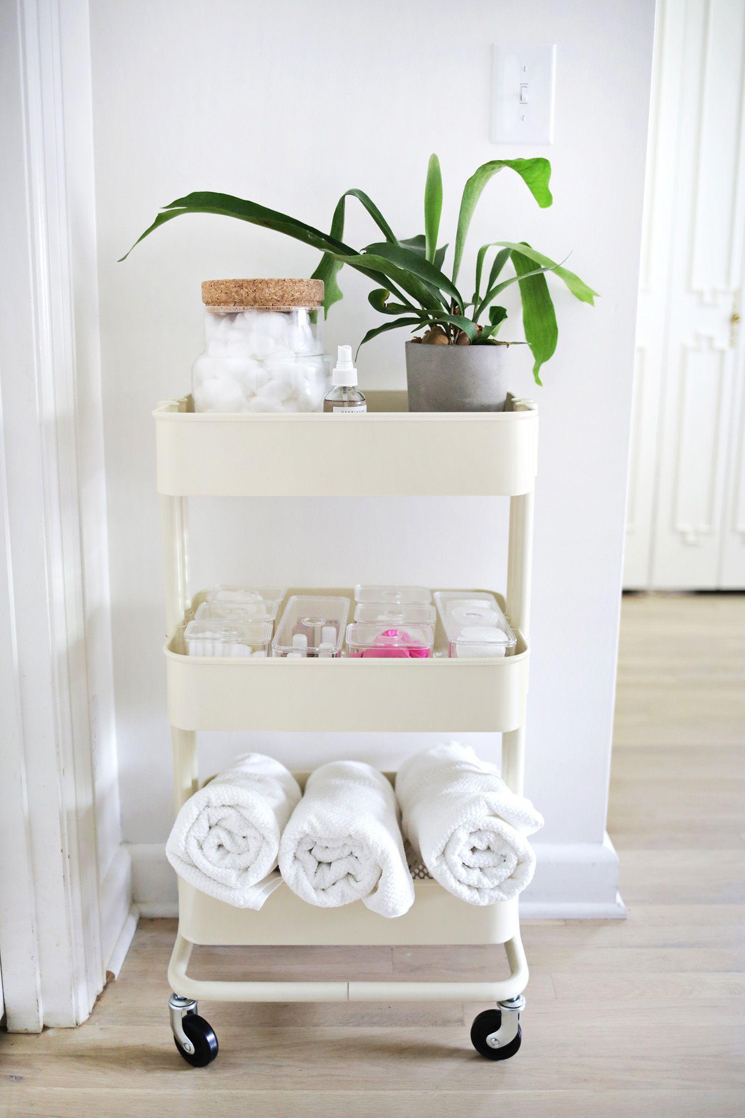 Or Try A Simple Cart Smallbathroomstorage Bathroom Cartbathroom Storage