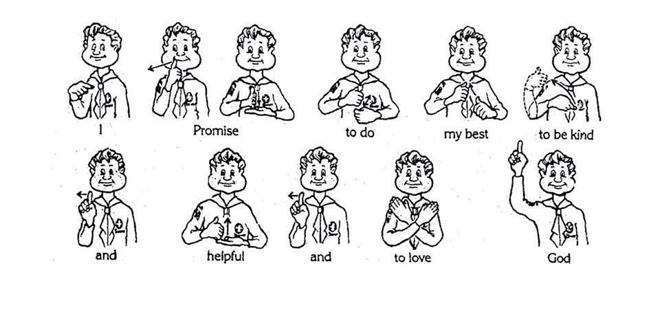 picture regarding Boy Scout Oath in Sign Language Printable identified as beaver scout assurance indication language - Google Glimpse Beaver