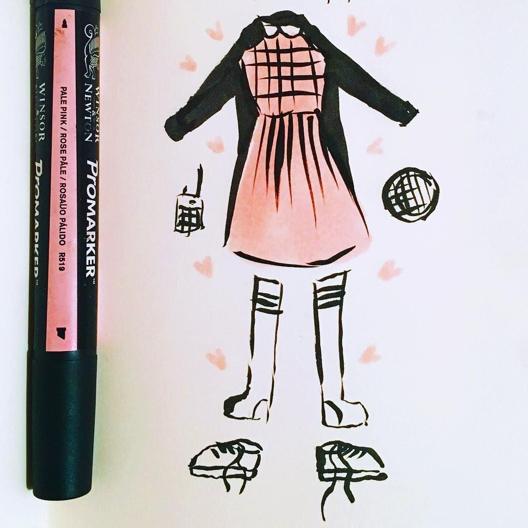 Pink dress from stranger things  Inktober day  planned Halloween outfit for a night with friends