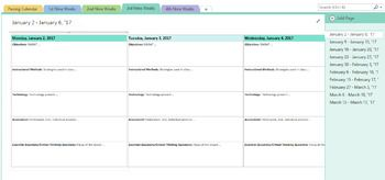 Use OneNote To Help You Organized Your Lesson Plans This Is Into Four 4 Nine Weeks Periods Planner Completely Editable