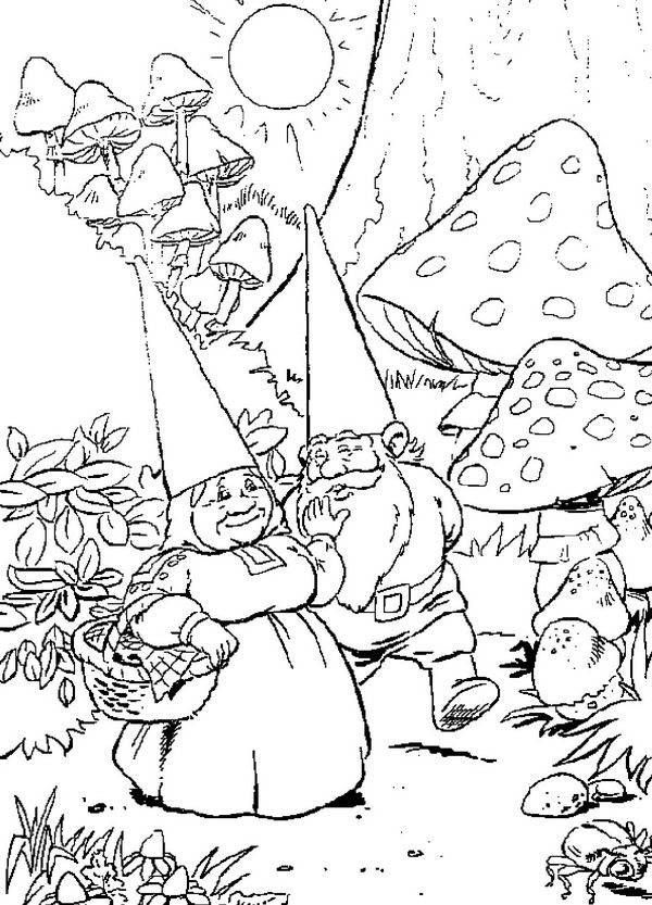 Coloring Page David The Gnome David The Gnome David The Gnome
