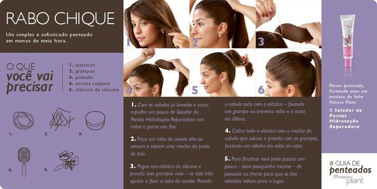 Dica de penteado Natura Plant!! Um coque fácil  para todas as ocasiões!!! http://rede.natura.net/espaco/outletchic/nossos-produtos/plant-68b