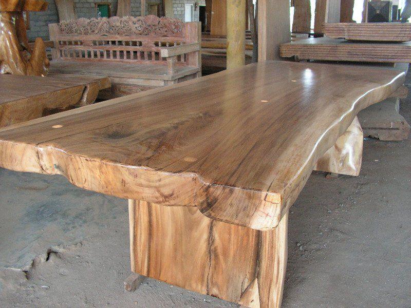 Te Koop Tafel : Boomstam tafels van suar teak tamarinde mango en nangka hout te