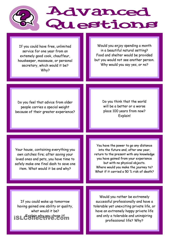 Advanced Conversation Promptcards About Values Beliefs Ethics Angličtina