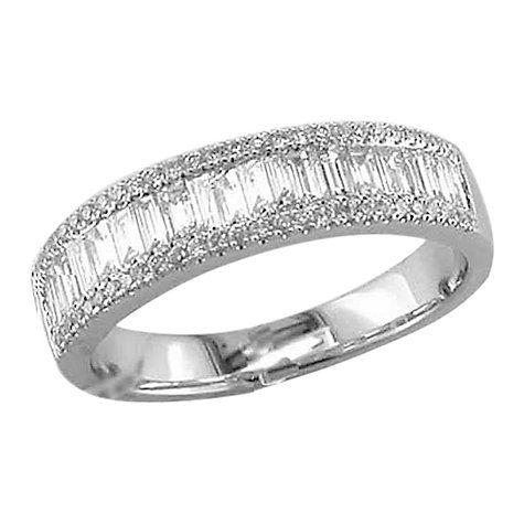 2ebd1ba2719c51 Buy EWA 18ct White Gold Diamond Baguette Cut Half Eternity Ring, White Gold  Online at johnlewis.com