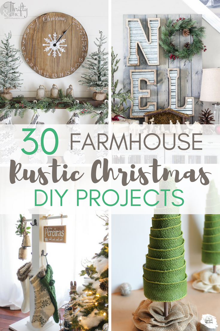 30+ Stunning Farmhouse Christmas DIY Projects -   19 diy Christmas projects ideas