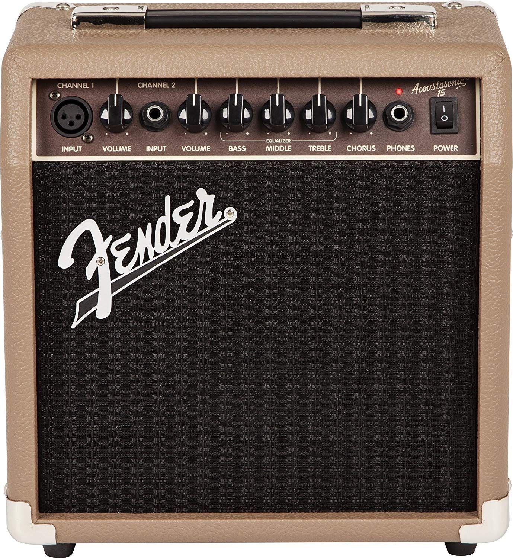 Fender Acoustasonic 15 Watt Acoustic Guitar Amplifier In 2020 Acoustic Guitar Amp Acoustic Guitar Fender Guitar Amps